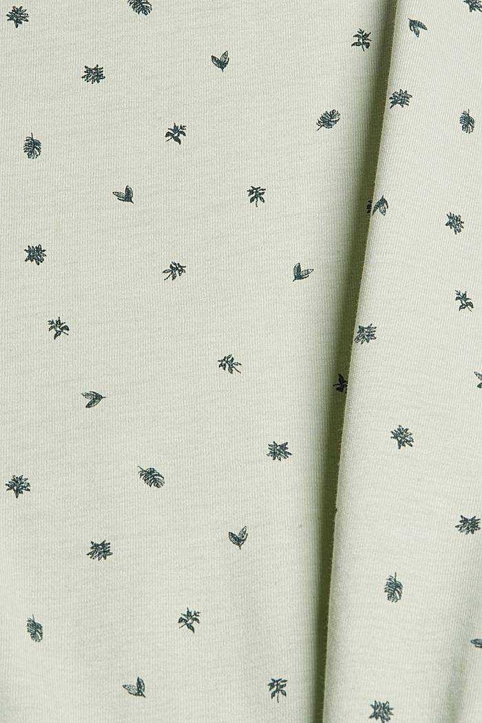 Jersey-Polo mit Print, Organic Cotton, PASTEL GREEN, detail image number 5