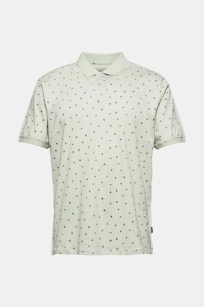 Jersey-Polo mit Print, Organic Cotton, PASTEL GREEN, detail image number 6