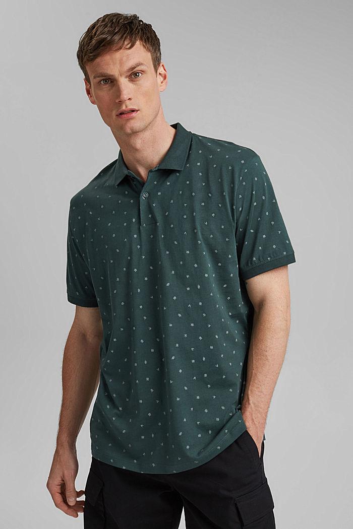 Jersey-Polo mit Print, Organic Cotton