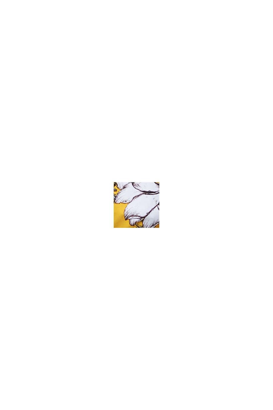 Recycelt: unwattiertes Neckholder-Top, YELLOW, swatch