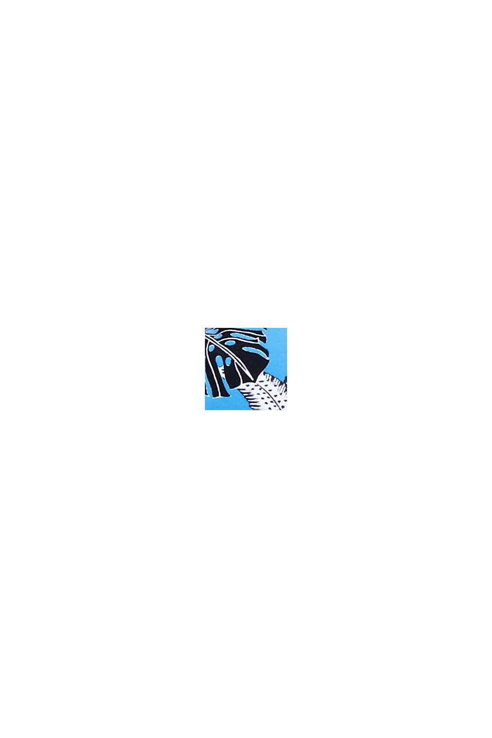 Recycelt: Wattiertes Bandeau mit Print, BLUE, swatch