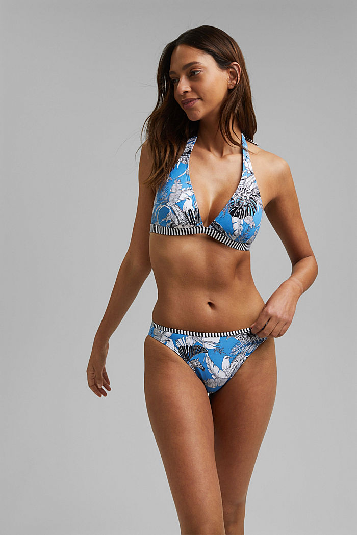 Recycled: bikini briefs with tropical print