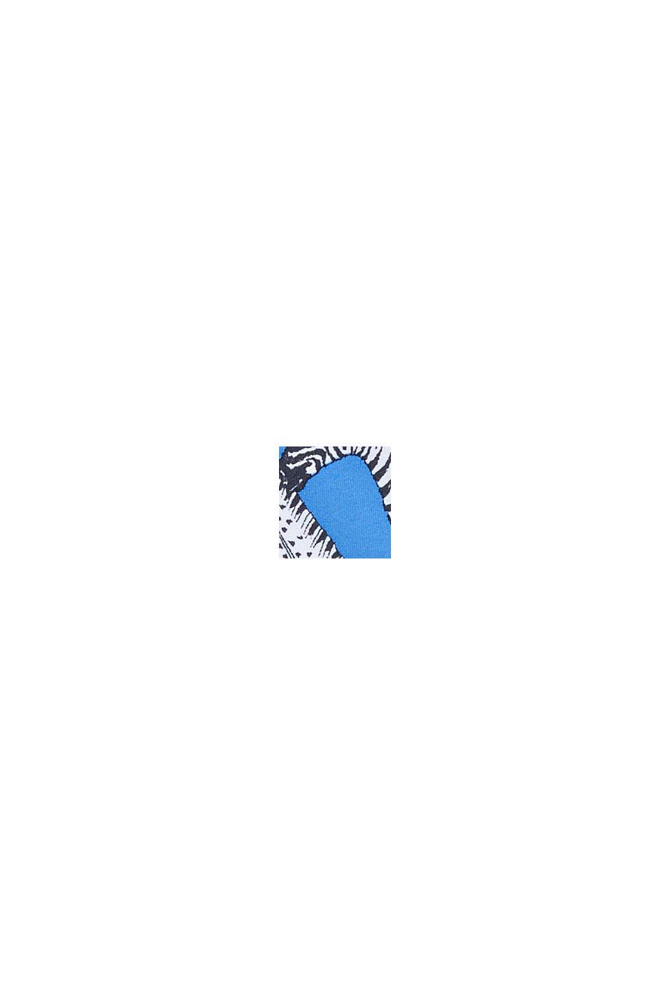 Återvunnet material: bikinitrosa med tropiskt mönster, BLUE, swatch