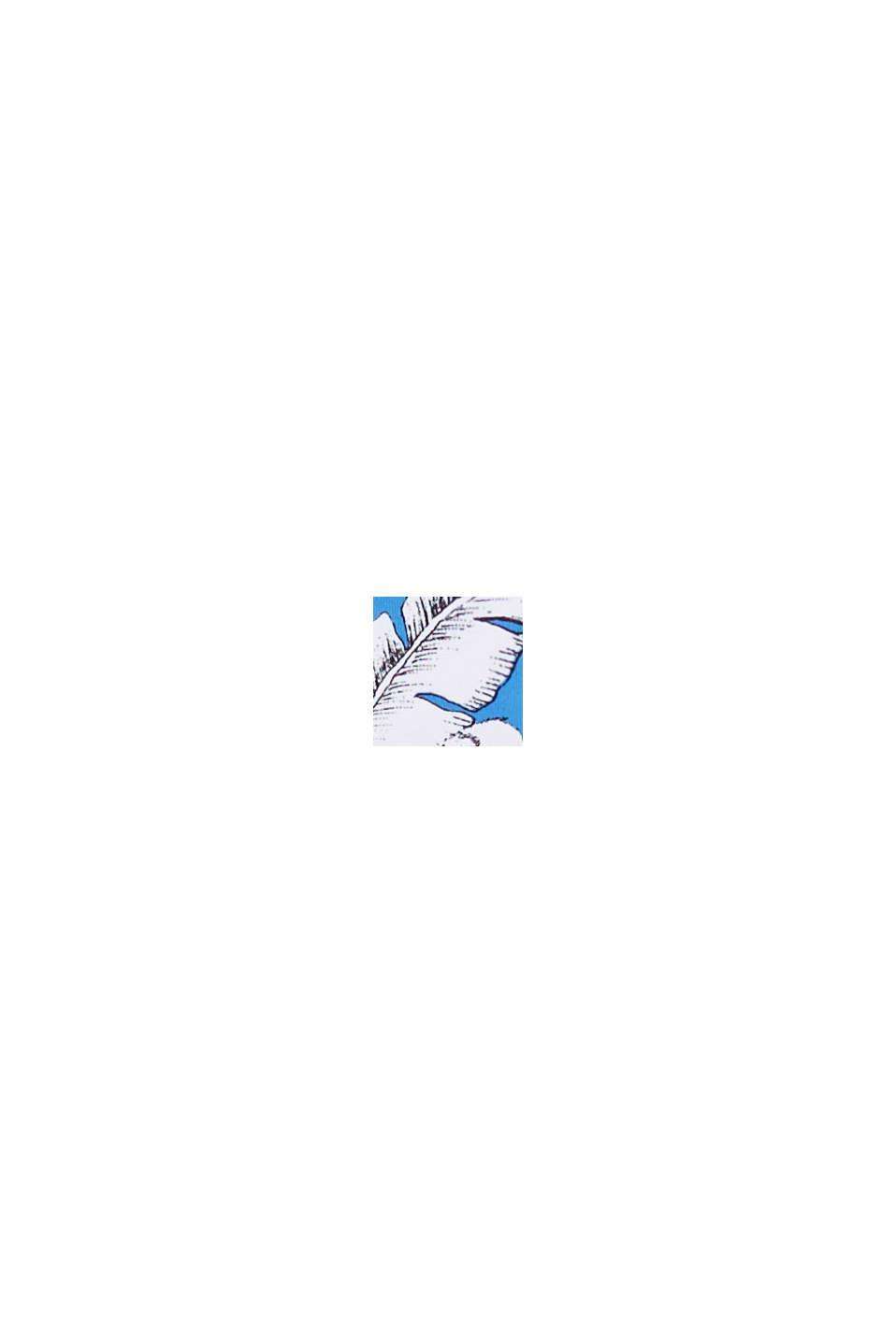 Gerecycled: hipster-short met tropische print, BLUE, swatch