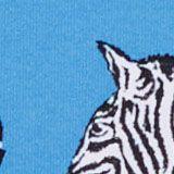 Recycelt: Highwaist-Bikini-Slip mit Print, BLUE, swatch