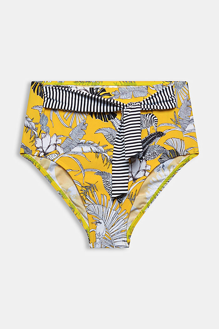 Recycled: printed high-waisted bikini briefs