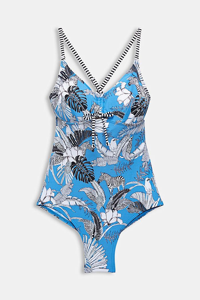 En matière recyclée: maillot de bain à imprimé tropical