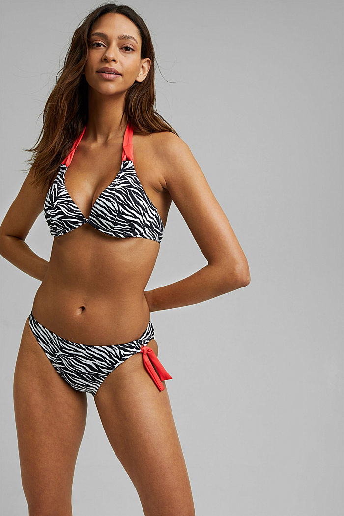 Recycelt: Bügel-Top mit Zebra-Print