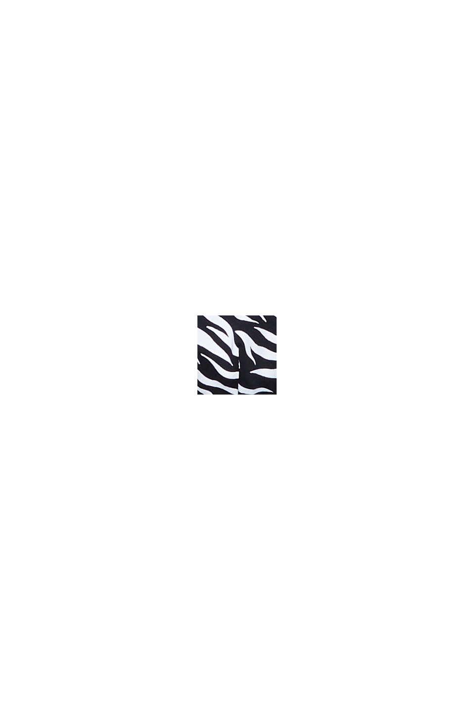 Återvunnet material: bygelöverdel med zebramönster, BLACK, swatch