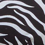 Recycled: non-wired bikini top with a zebra print, BLACK, swatch