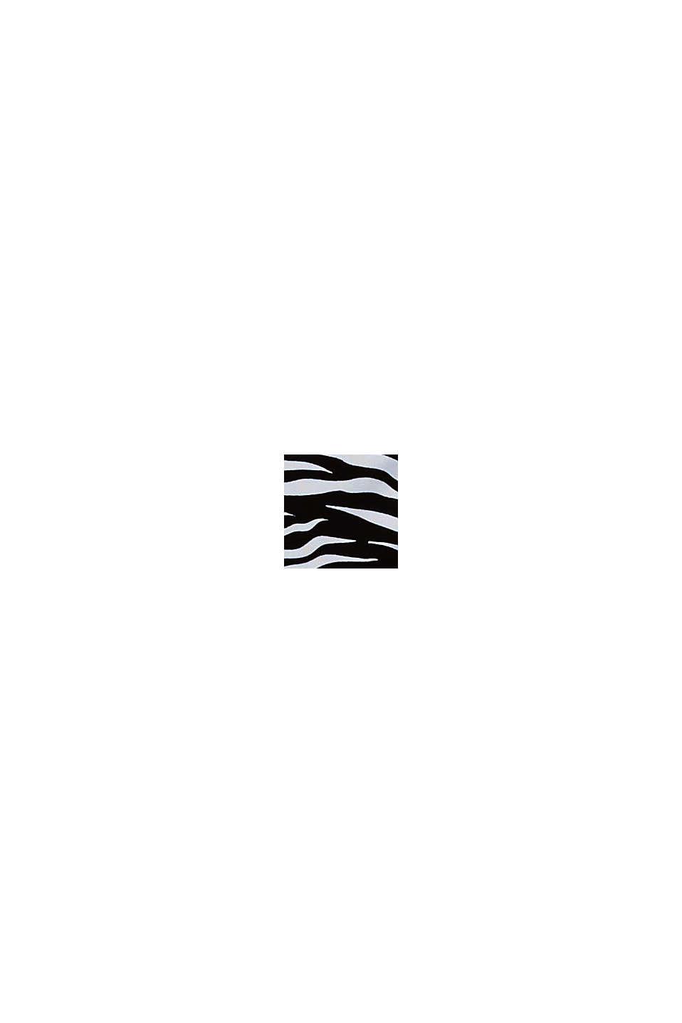 En matière recyclée: Slip orné d'un imprimé zèbre et d'un nœud, BLACK, swatch