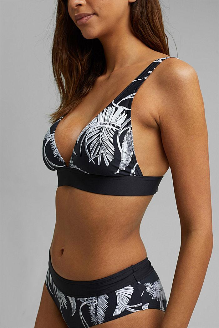 Recycelt: bügelloses Top mit Palmen-Print, BLACK, detail image number 2