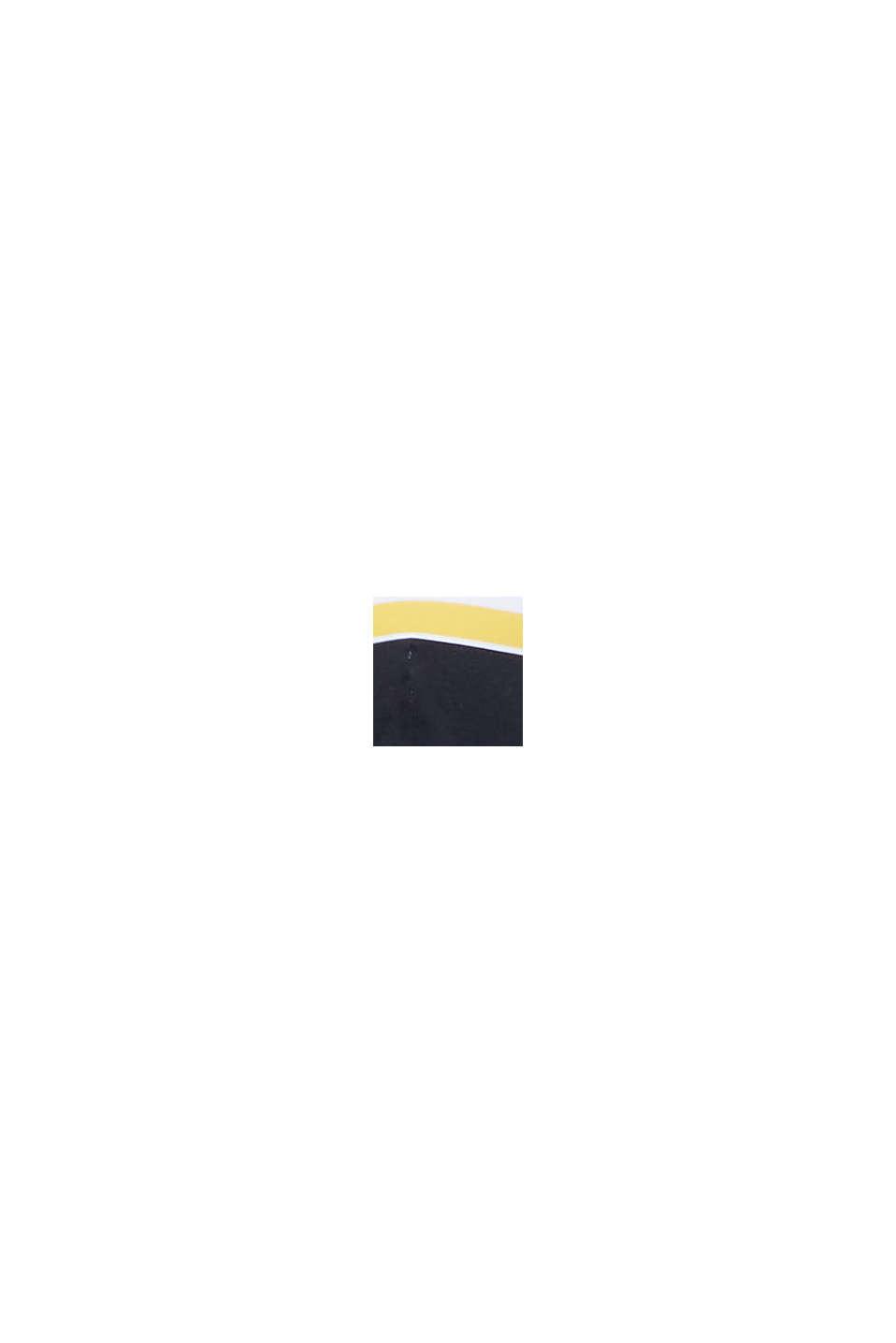Recycelt: Neckholder-Top mit Streifen, NAVY, swatch