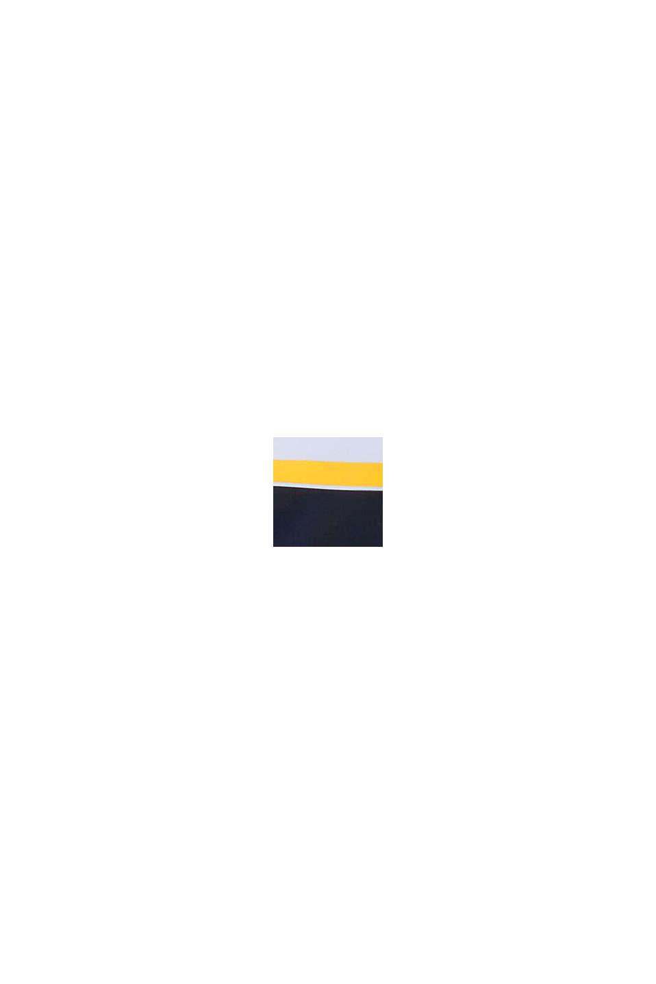 Återvunnet material: Miditrosa med blockränder, NAVY, swatch