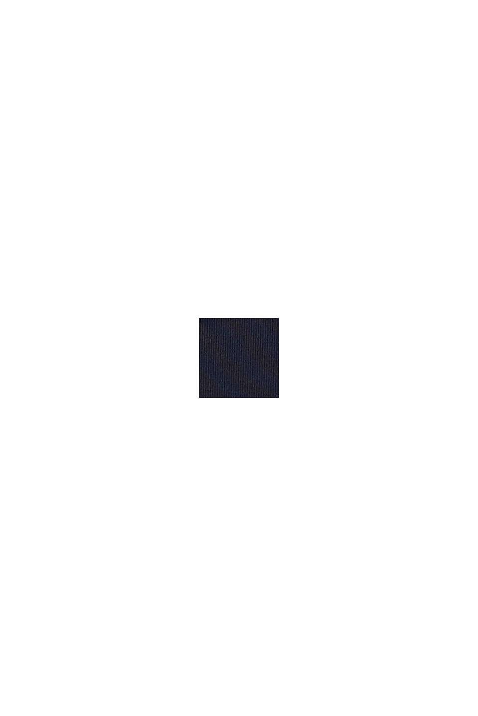 Gerecycled: hoge slip met colour block, NAVY, swatch