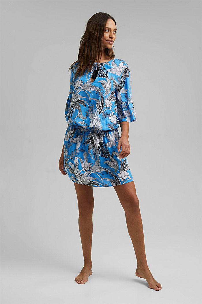 Robe de plage en fibres LENZING™ ECOVERO™, BLUE, detail image number 2