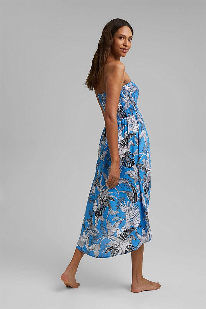 Bandeau-Kleid aus LENZING™ ECOVERO™, BLUE, detail image number 1
