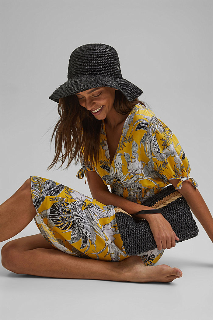 Midi-Strandkleid aus LENZING™ ECOVERO™, YELLOW, detail image number 3