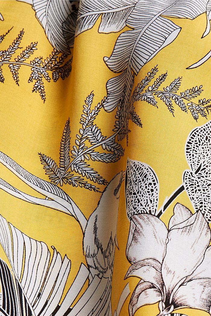 Midi-Strandkleid aus LENZING™ ECOVERO™, YELLOW, detail image number 6