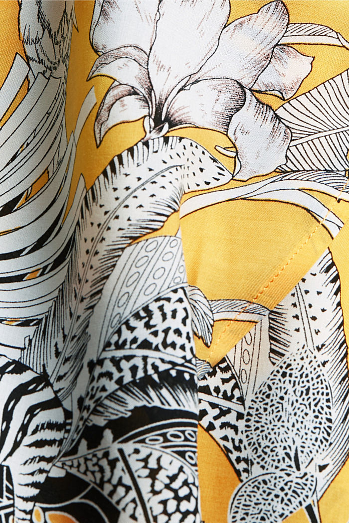 Robe de plage en fibres LENZING™ ECOVERO™, YELLOW, detail image number 6