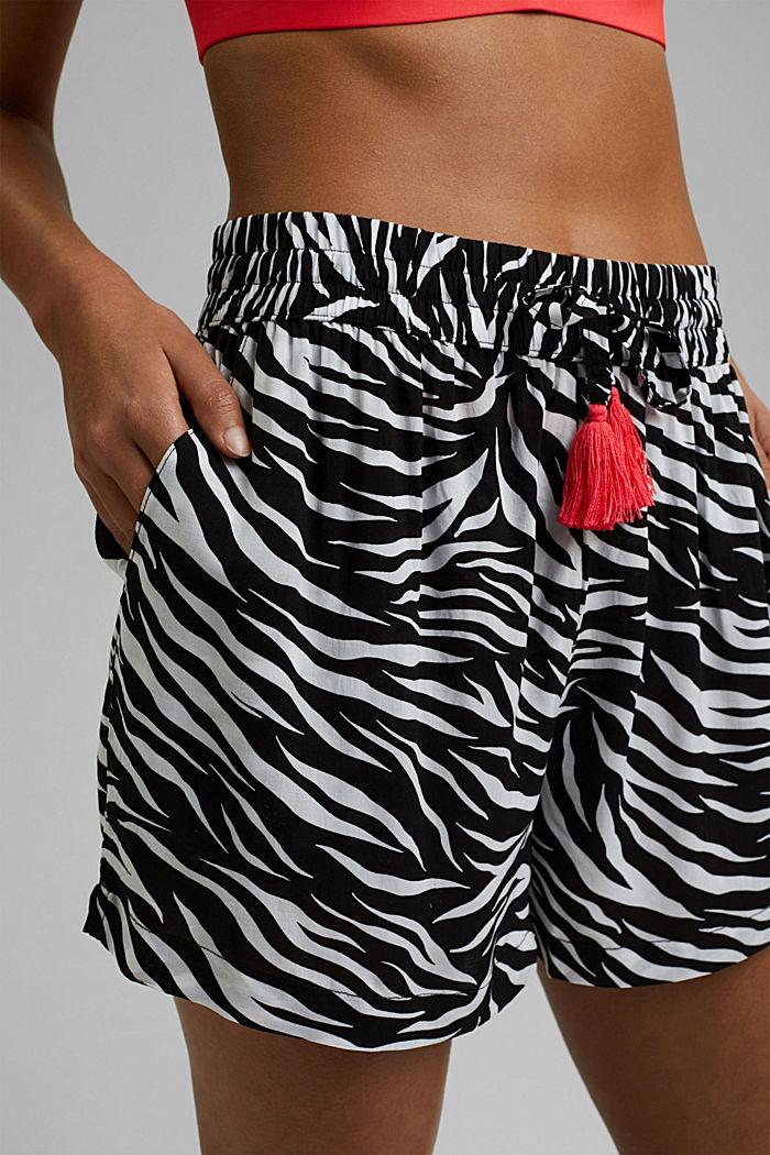 Strand-Shorts aus LENZING™ ECOVERO™, BLACK, detail image number 4