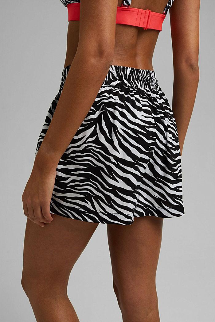 Strand-Shorts aus LENZING™ ECOVERO™, BLACK, detail image number 6