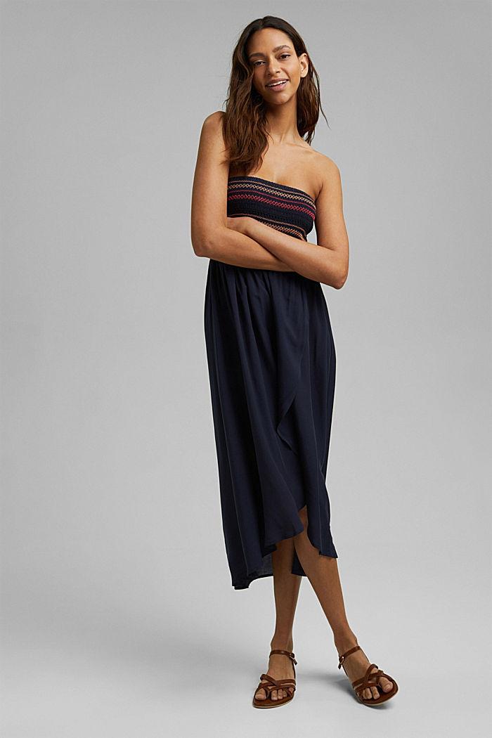 Bandeau dress made of LENZING™ ECOVERO™, NAVY, detail image number 2