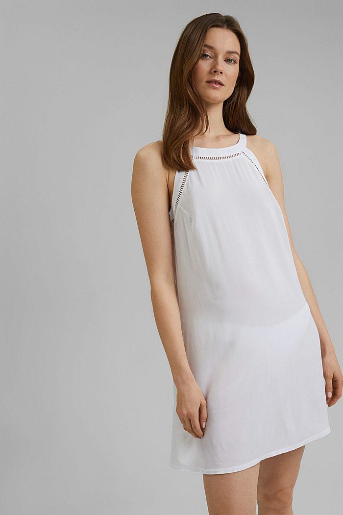 Beach dress made of LENZING™ ECOVERO™ viscose, WHITE, detail image number 0