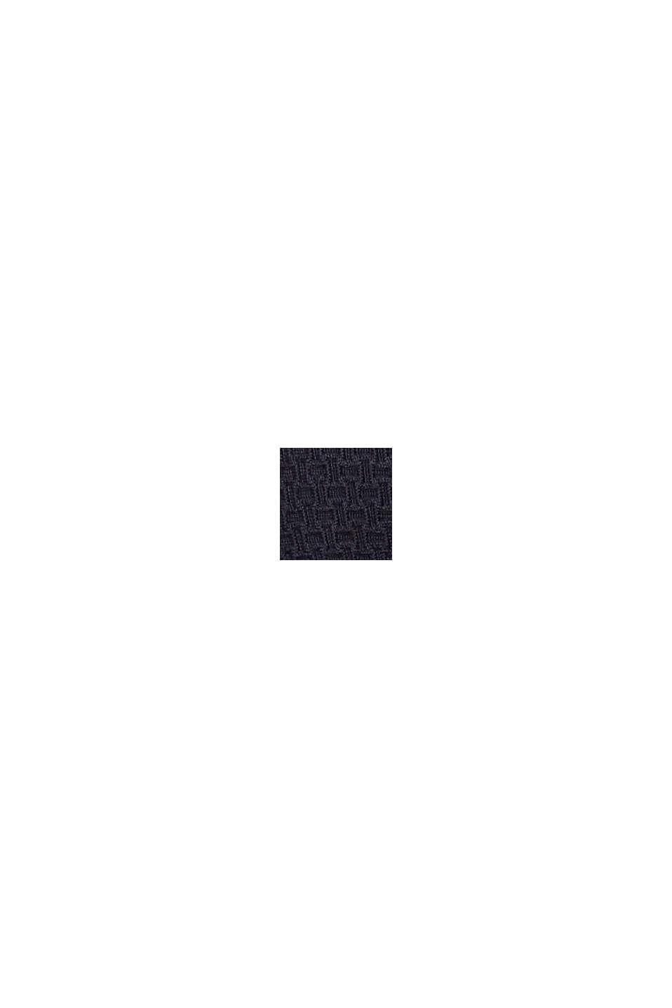 Vadderad bandeau-överdel med struktur, NAVY, swatch