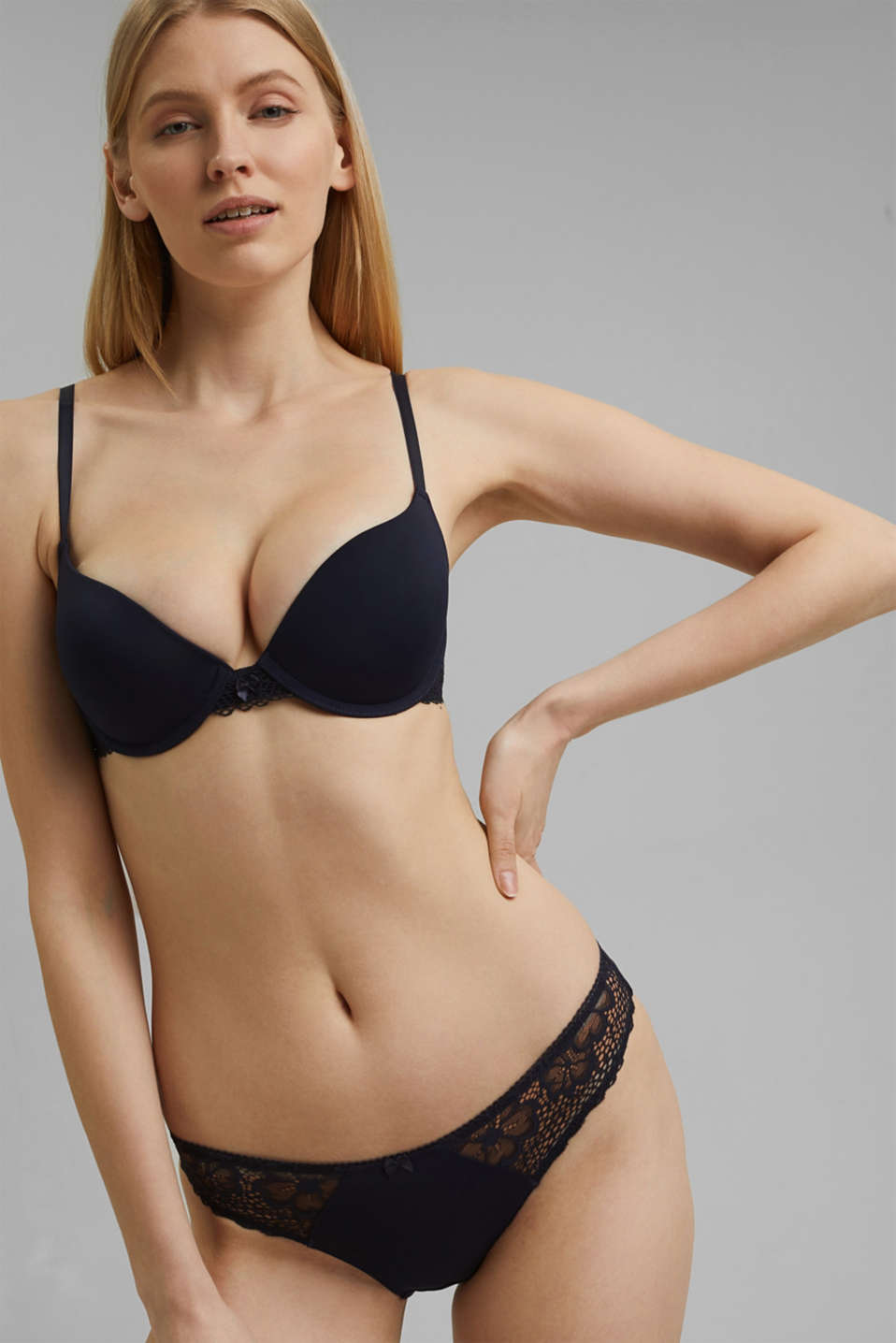 Esprit - Reciclado: sujetador push up con encaje