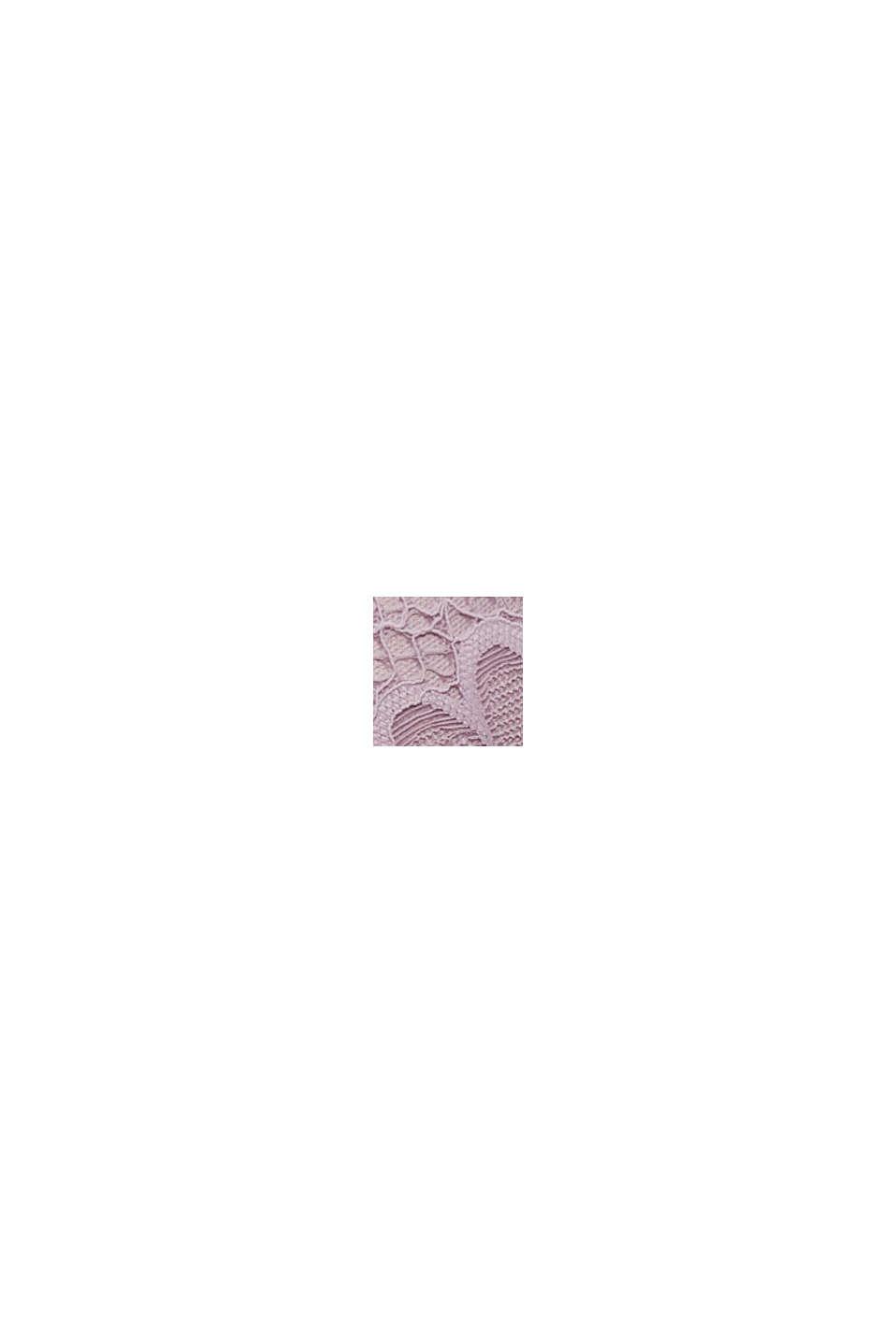 Af genanvendte materialer: pushup-bh med blonder, LAVENDER, swatch