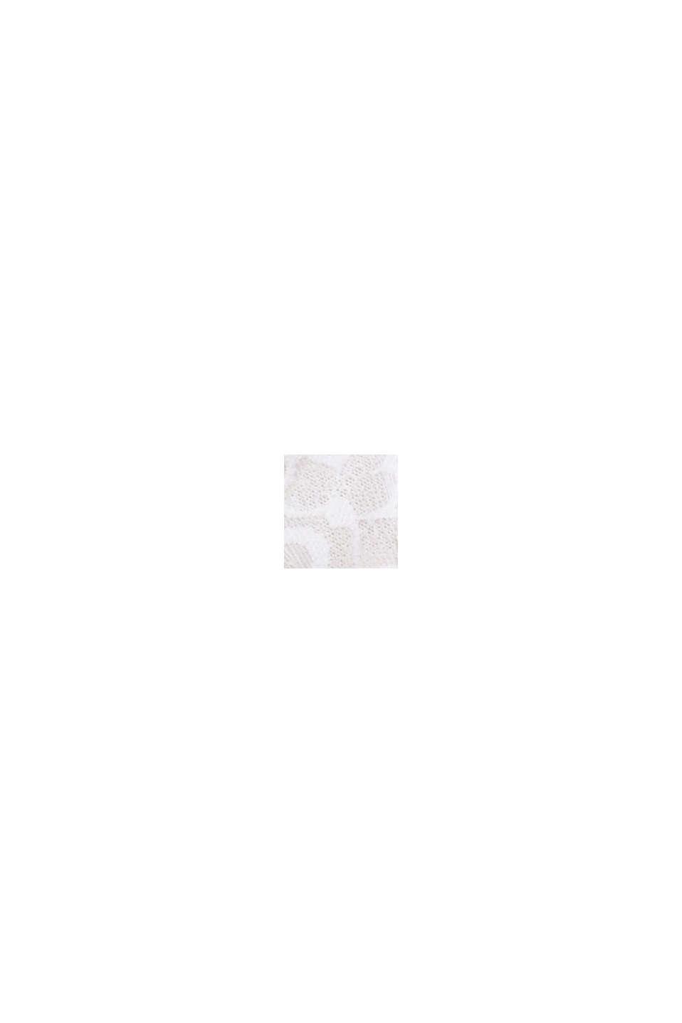 Reciclado: sujetador de aros sin relleno para copas grandes, WHITE, swatch