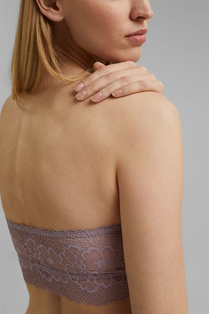 Non-wired bra, LAVENDER, detail image number 2
