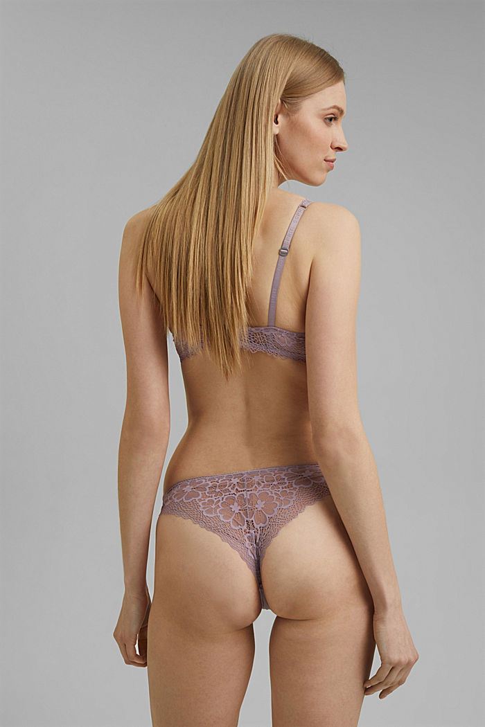 Recycled: Hipster briefs in lace, LAVENDER, detail image number 2