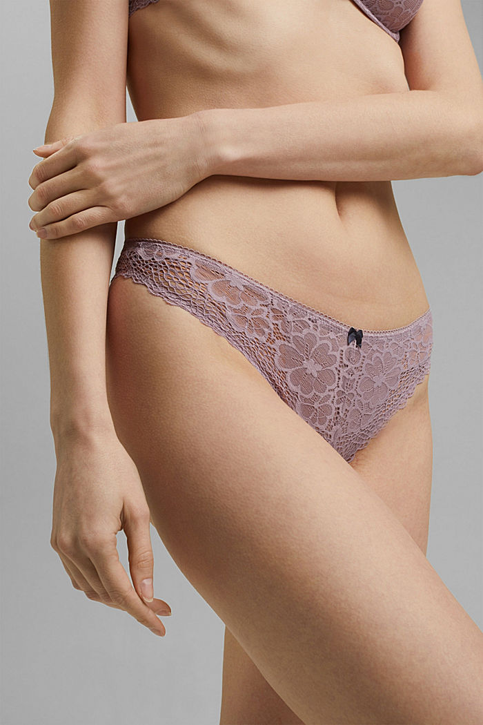 Recycled: Hipster briefs in lace, LAVENDER, detail image number 1