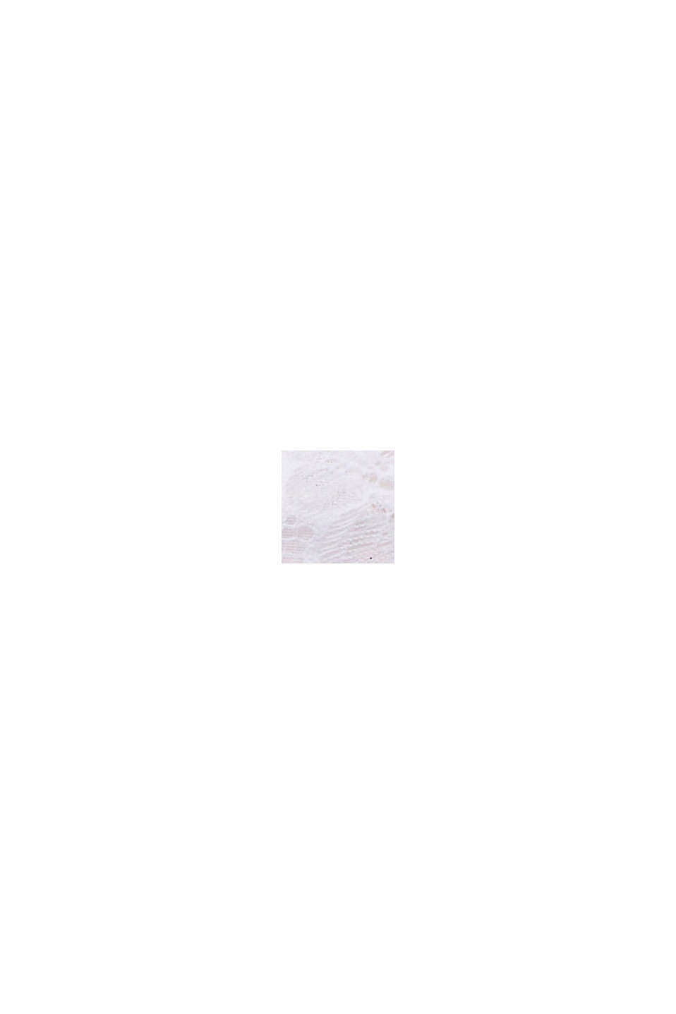 En matière recyclée: Shorty taille basse en dentelle, WHITE, swatch