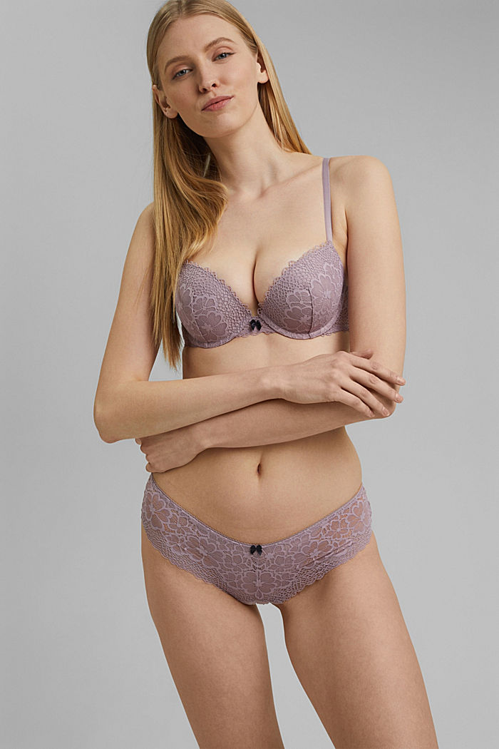 Recycled: Hipster briefs in lace, LAVENDER, detail image number 0
