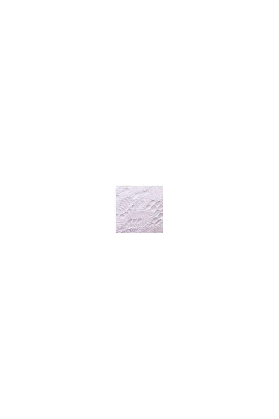 Af genanvendte materialer: vatteret bøjle-bh med blonder, WHITE, swatch