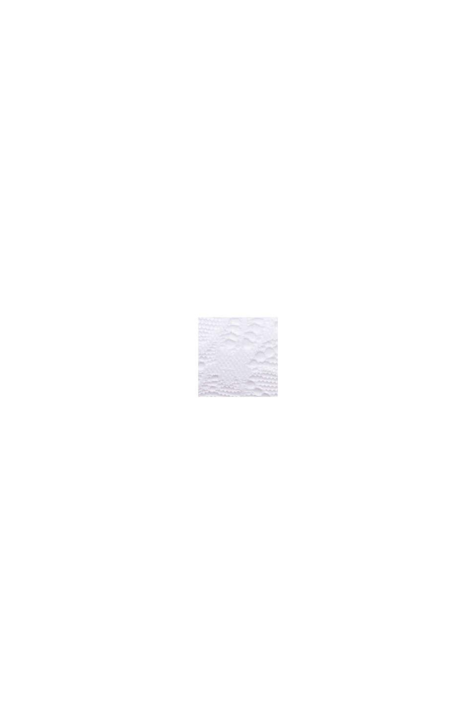 Af genanvendte materialer: vatteret bandeau med blonder, WHITE, swatch