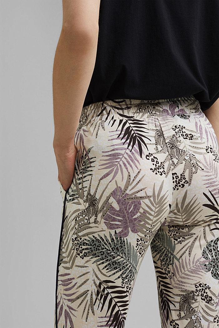 Pantalón de pijama de jersey en LENZING™ ECOVERO™, OFF WHITE, detail image number 5