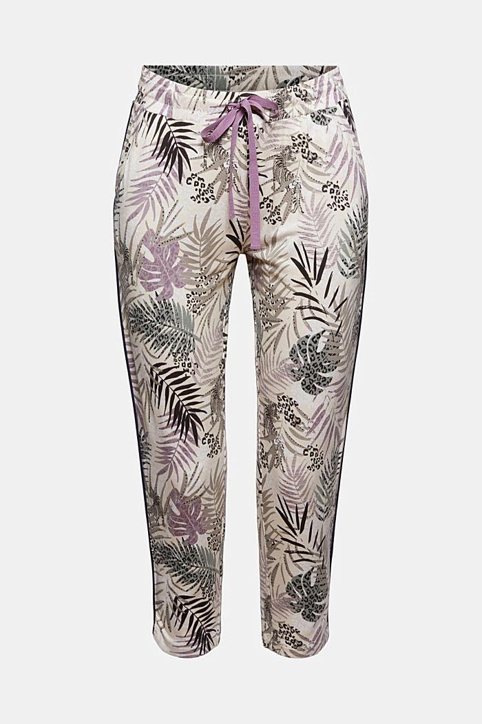 Pantalón de pijama de jersey en LENZING™ ECOVERO™, OFF WHITE, detail image number 6