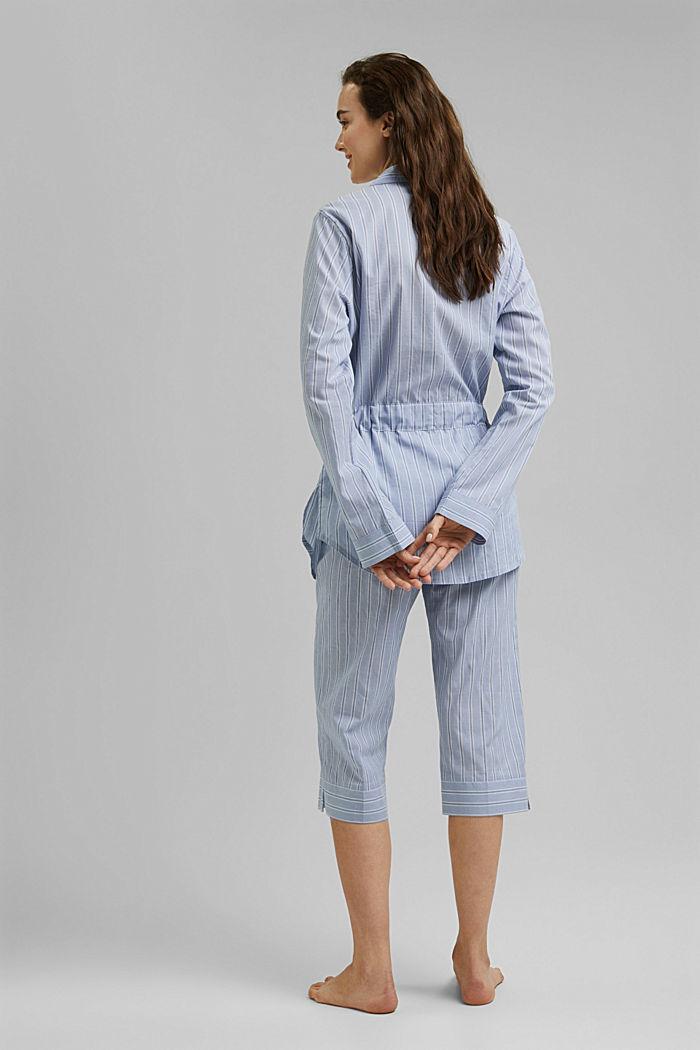 Raidallinen pyjama, 100 % luomupuuvillaa, PASTEL BLUE, detail image number 2