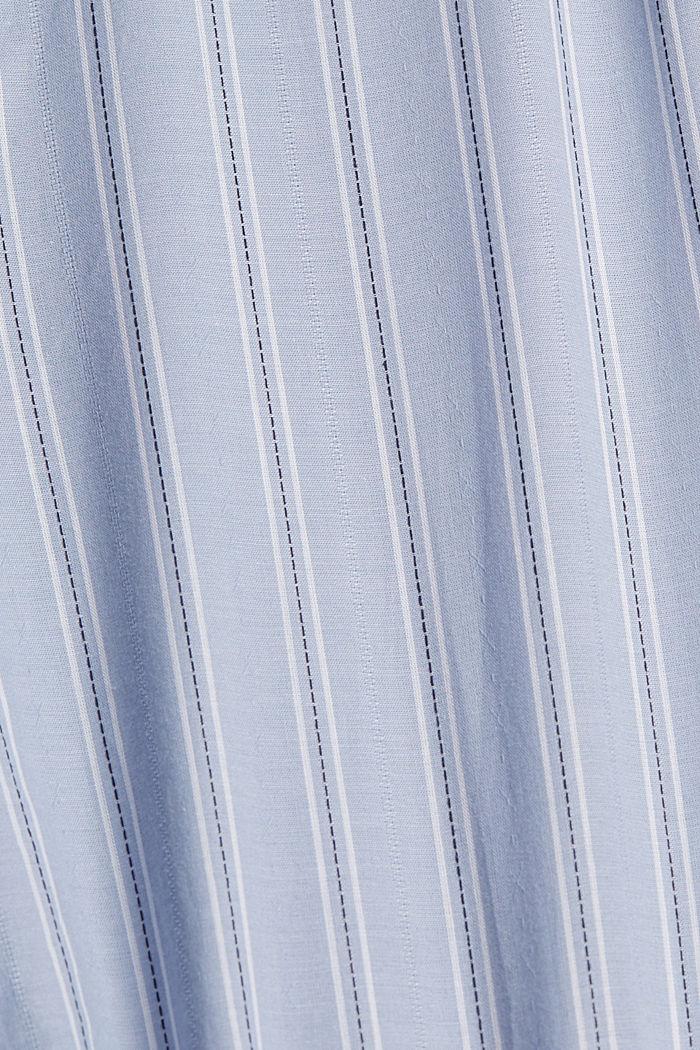 Striped nightshirt, 100% organic cotton, PASTEL BLUE, detail image number 4