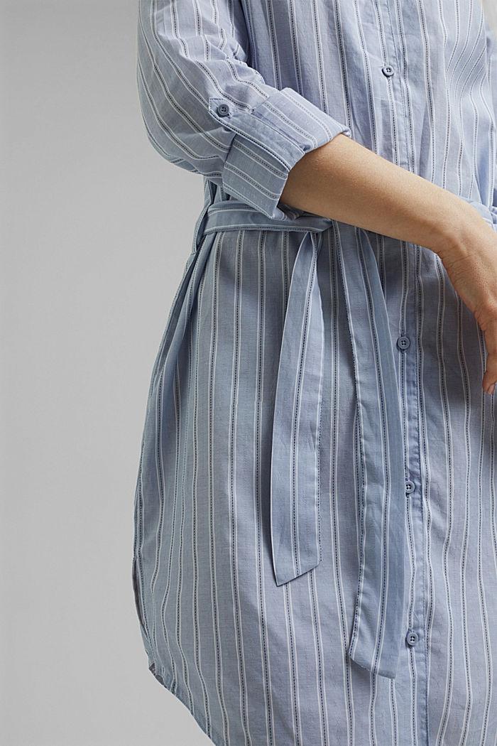 Striped nightshirt, 100% organic cotton, PASTEL BLUE, detail image number 5