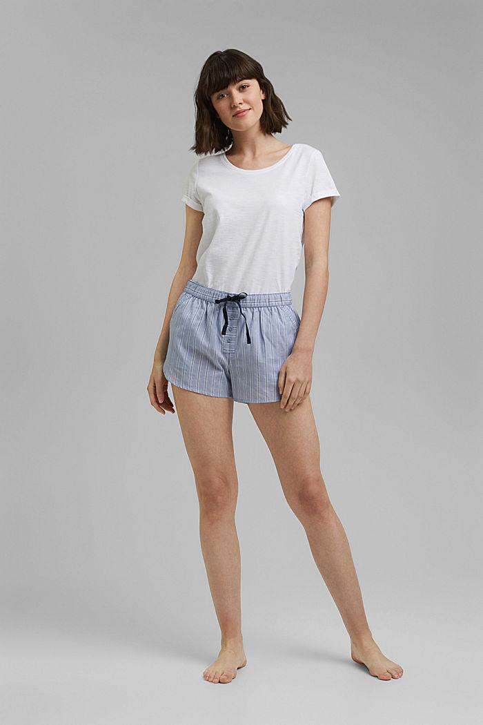 Pyjama-Shorts aus 100% Bio-Baumwolle, PASTEL BLUE, detail image number 1