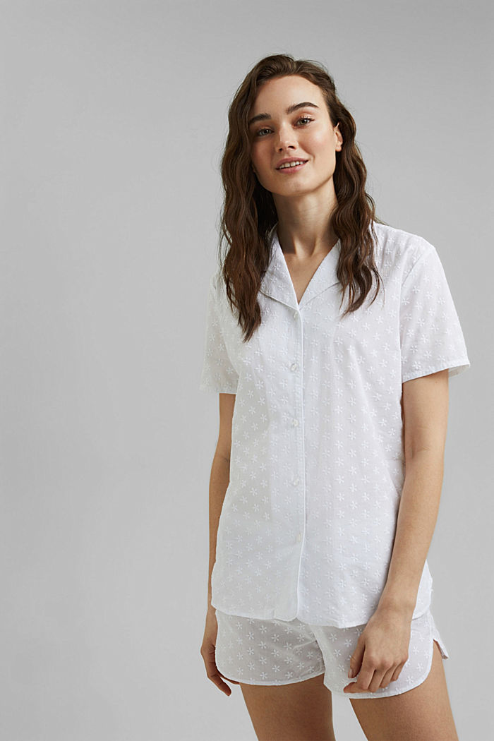 Pyjama mit Stickerei, 100% Organic Cotton