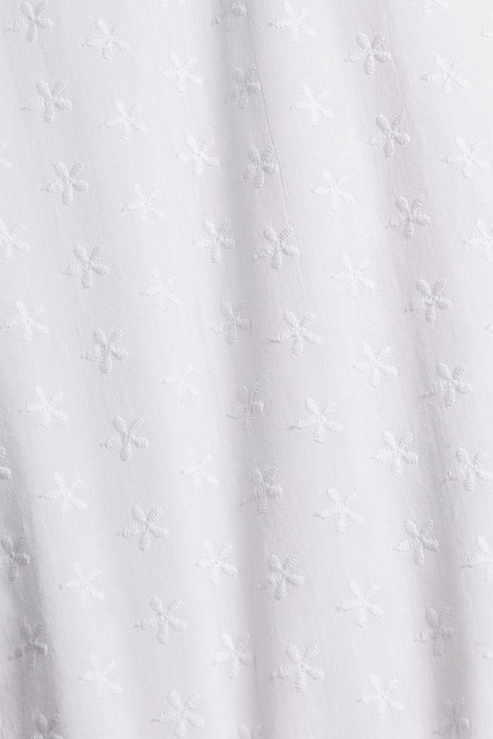 Pyjama à broderie, 100% coton biologique, WHITE, detail image number 4