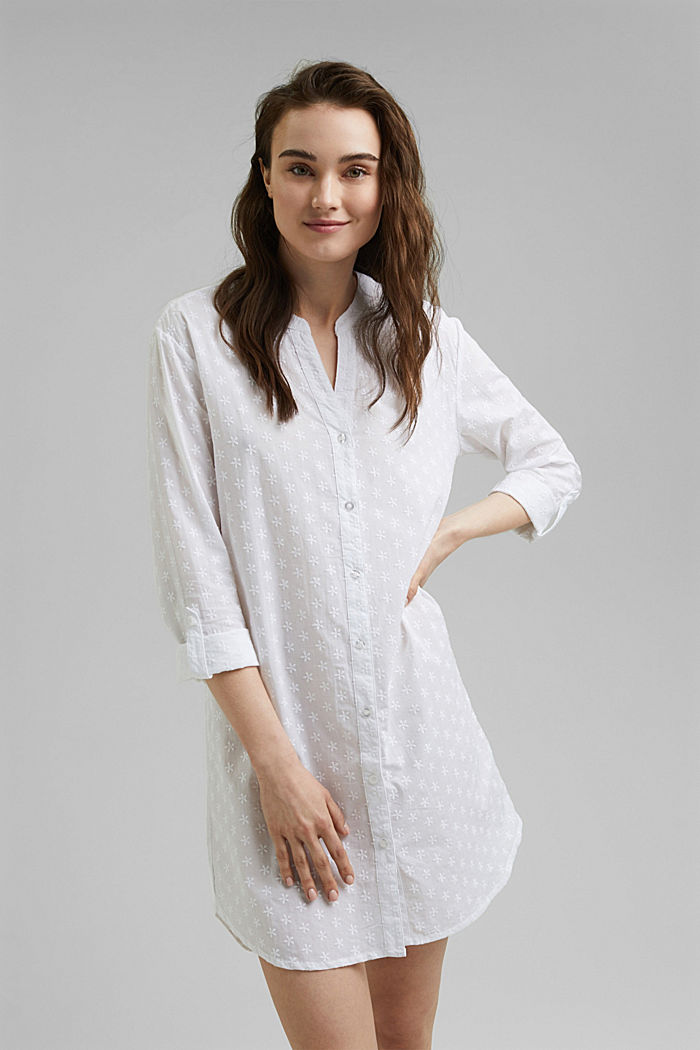 Embroidered nightshirt, 100% organic cotton