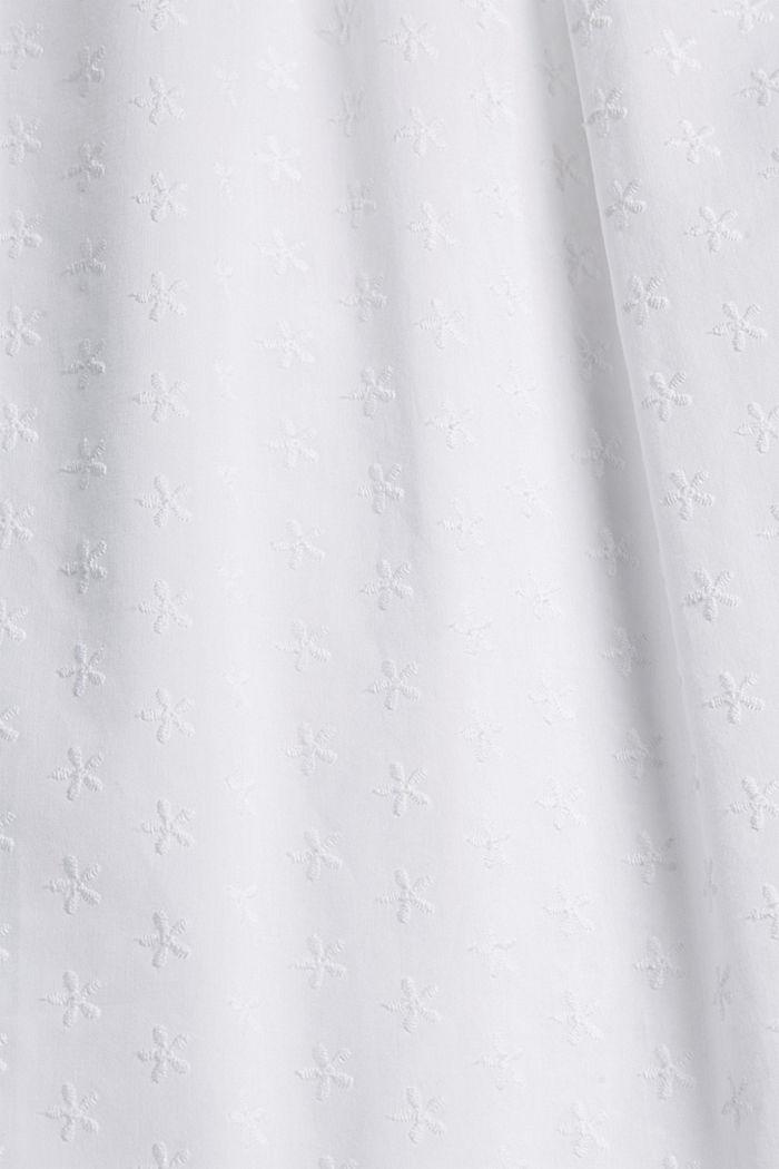 Kirjailtu yöpaita, 100 % luomupuuvillaa, WHITE, detail image number 4