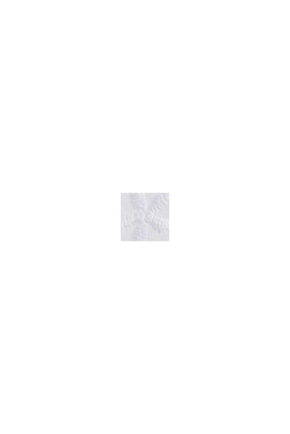 Nachthemd met borduursel, 100% biologisch katoen, WHITE, swatch
